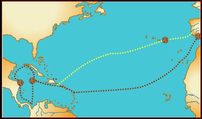 Pagina cristobal colon viaje 4 hitos 3104h for Cuarto viaje de colon